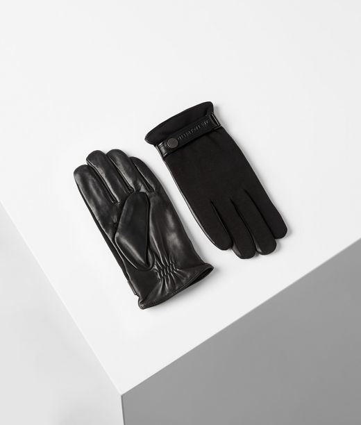 Gants en tissus mélangés Karl Lagerfeld