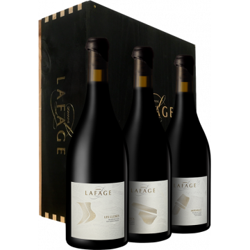 LES PARCELLAIRES 2015 – DOMAINE LAFAGE – EN CAISSE BOIS DE 3 BOUTEILLES – Vin Rouge