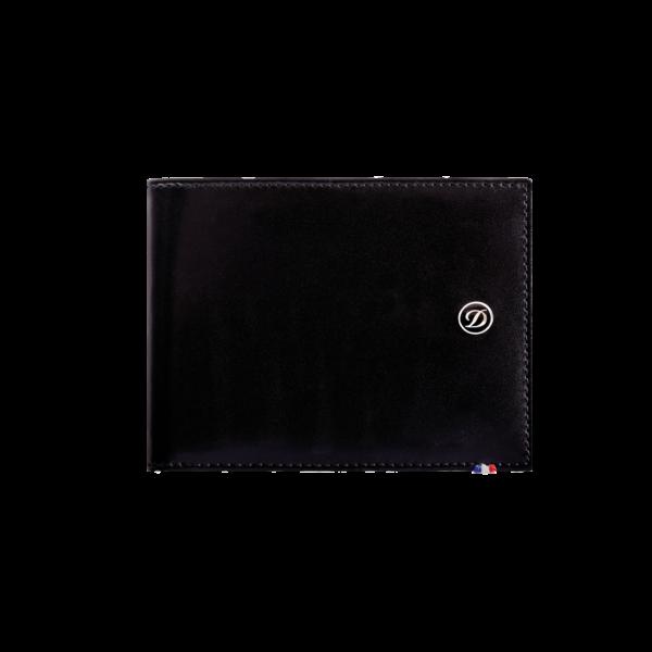 Line D Porte-billets 6 cartes de crédit & papiers d'identité cuir Line D noir