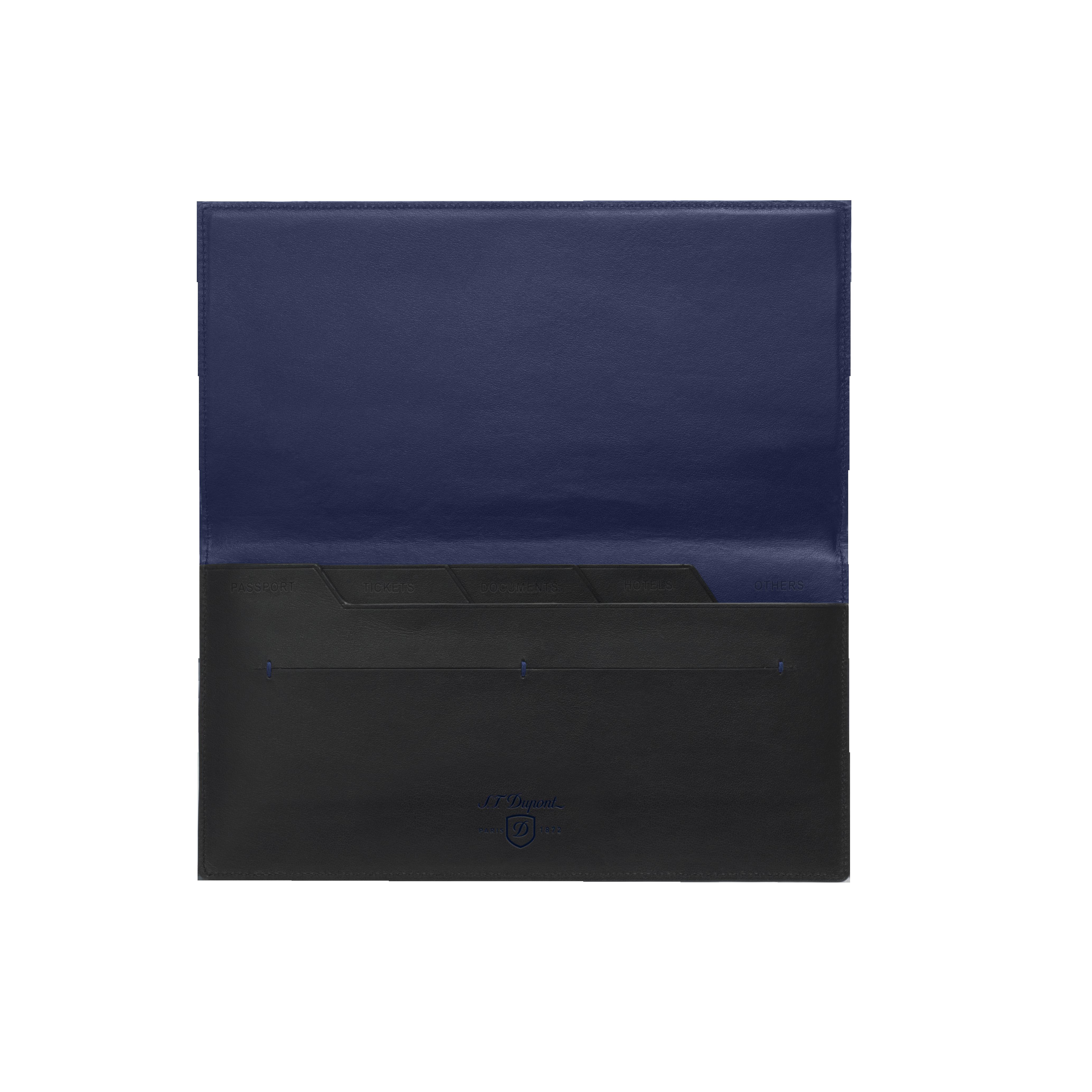 Organizer plat Line D Slim noir-bleu