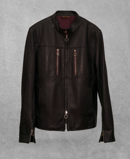 seraphin france veste homme marque luxe cuir noir