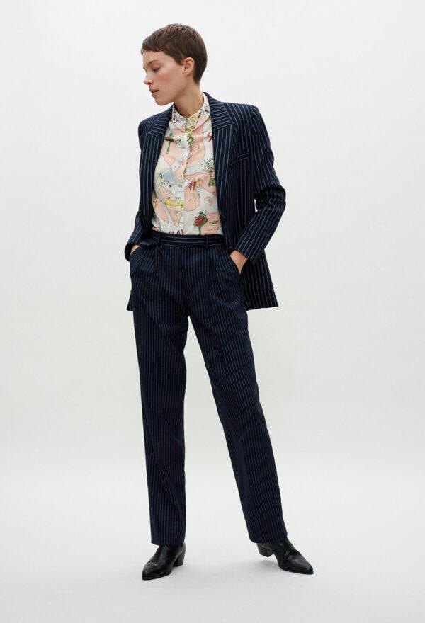 Pantalon de tailleur rayé Claudie Pierlot