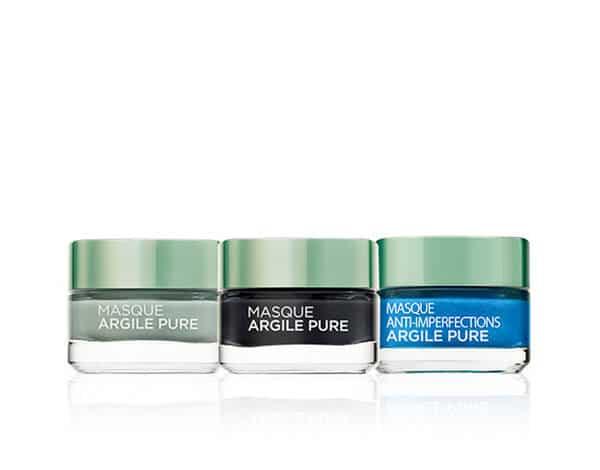 Trio masques argile – anti-imperfections, detox, purifiant L'Oréal Paris