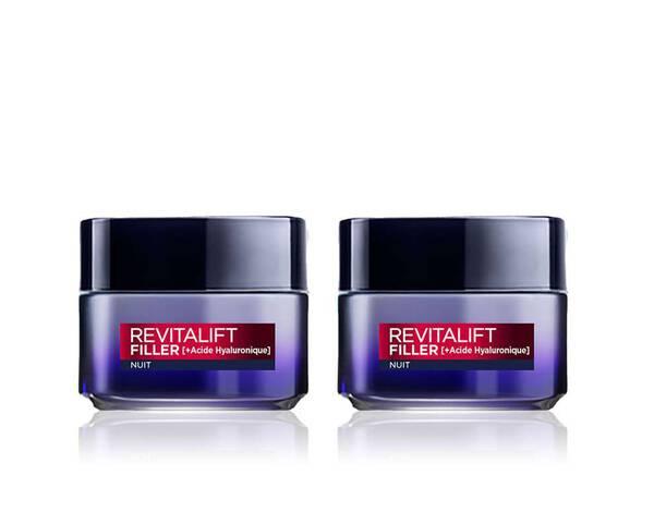 Lot de 2 – Revitalift Filler [+ Acide Hyaluronique] Nuit L'Oréal Paris