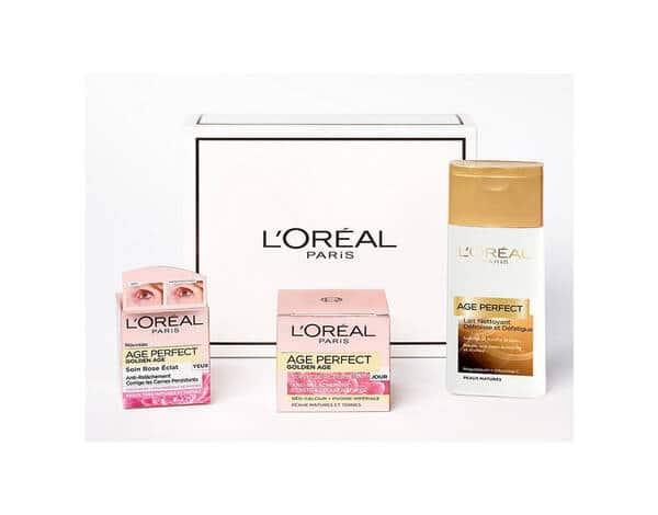 Coffret Soin Age Perfect Golden Age Coffret 3 produits Routine Anti-Relâchement et Eclat L'Oréal Paris