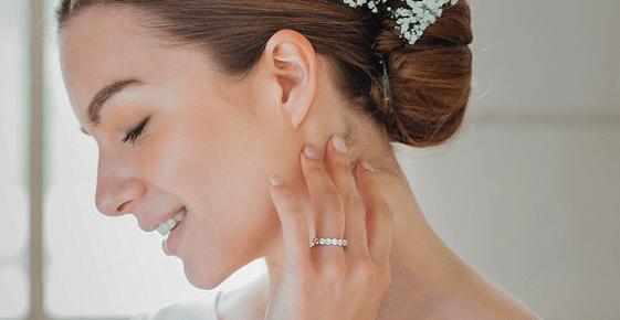 maison laudate bijoux luxe alliance or blanc mariage bague
