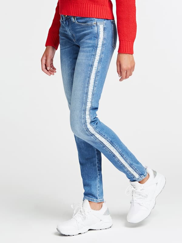Jean Skinny Bandes Laterales – Guess