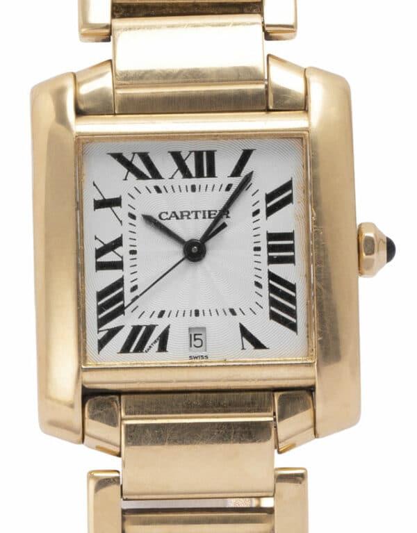 Montre Cartier Tank Francaise W50001R2 1840, Romain, 2004, Good, Matériau du boîtier Or Jaune, Matériel du bracelet: Or Jaune