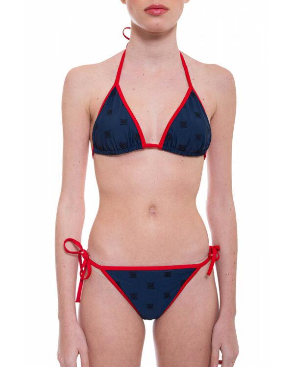Fendi – Bikini avec broderies et motifs 42 Bleu marine