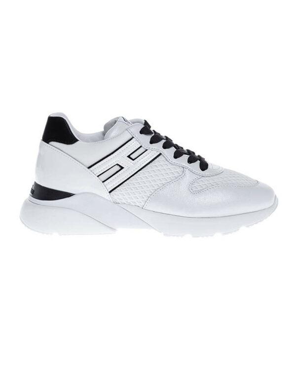 Hogan – Active One – Baskets en cuir avec H en relief 39 1/2 noir/blanc
