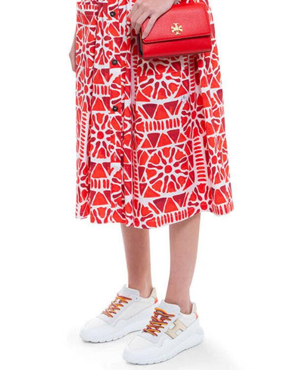 Hogan – I-Cube – Sneakers en cuir avec lacets colorés 41 blanc