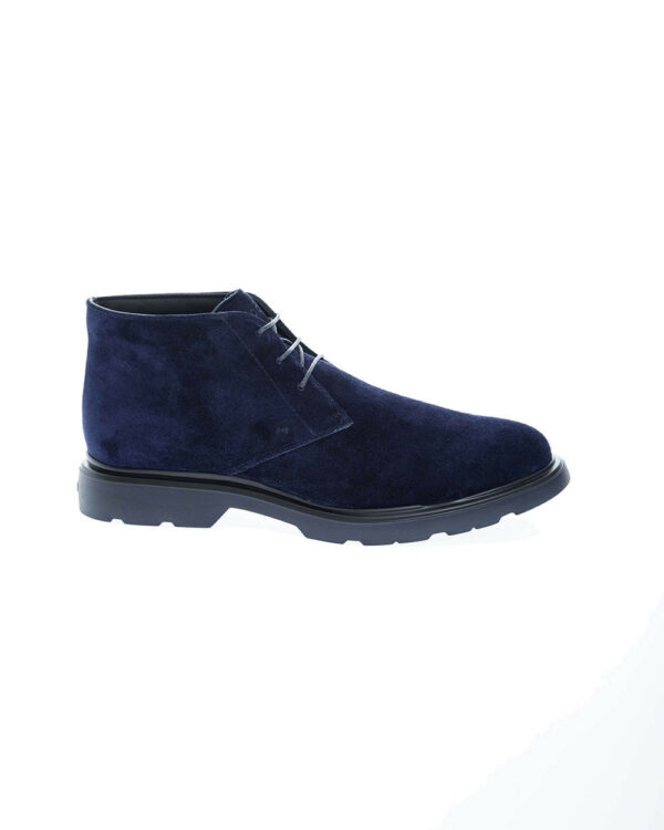 Hogan – Route – Derby-boots en cuir 3 trous 5 Bleu marine