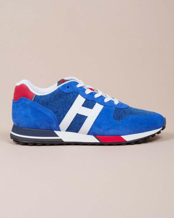 Hogan – Running H86 – Baskets en cuir avec H en gros grain 9 1/2 bleu