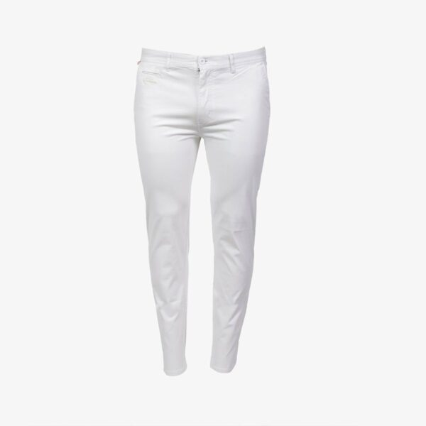 Pantalon Lifestyle Chino en Coton – Blanc Grand Prix Monaco