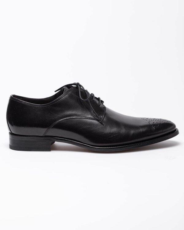 Jacques Loup – Derbies en cuir avec lacets 46 noir