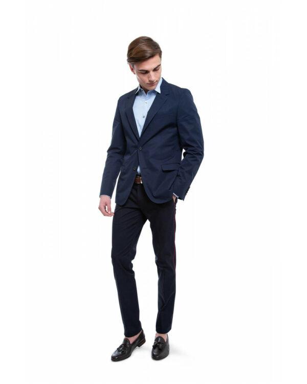 Lanvin – Veste en coton non doublée 52 Bleu marine
