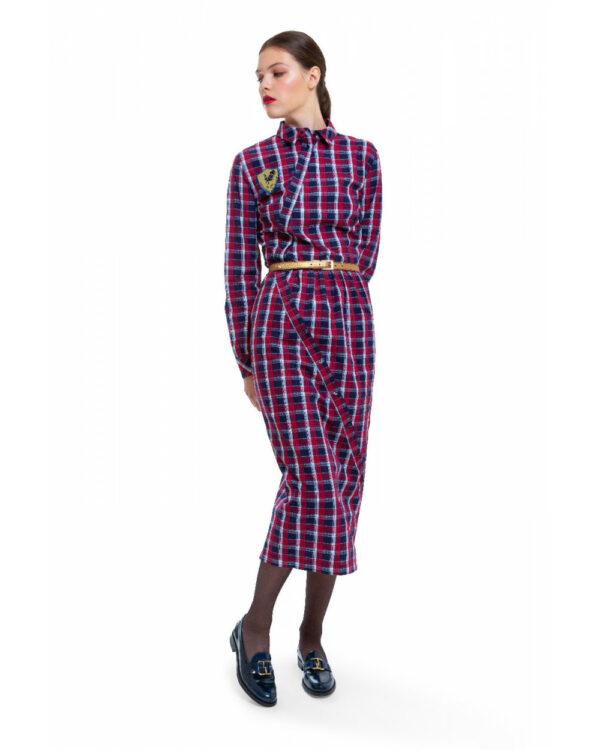 Stella Jean – Robe-chemise en coton coupe droite ML 46 multicolor
