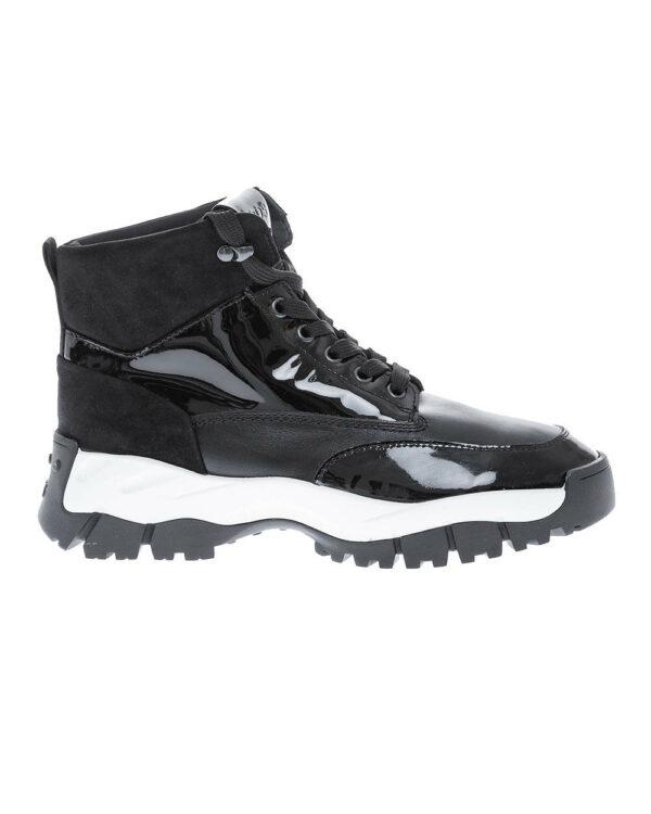 Tod's – Mountain Sportiva Allacciata – Bottines à lacets en cuir semelle oversized 39 1/2 noir