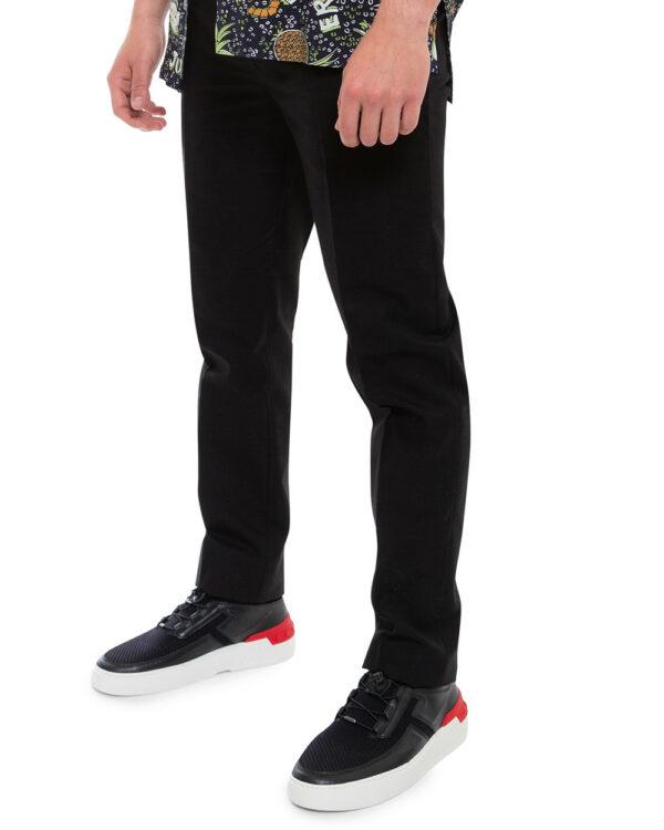Tod's – No Code Cassetta – Sneakers en cuir nappa lacets élastiques 40 9 1/2 noir