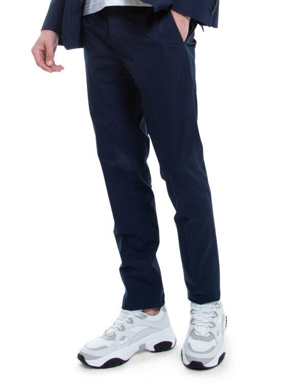 Tod's – T-Run – Sneakers en cuir de veau et toile semelle oversized 10 blanc