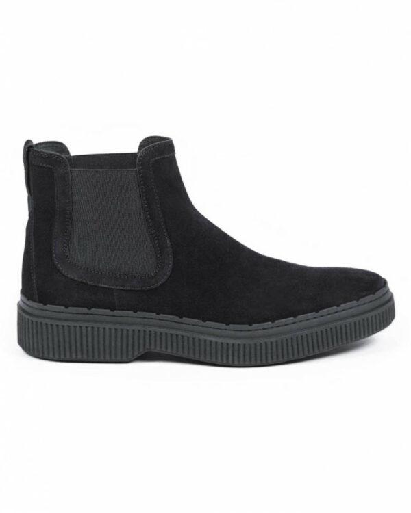 Tod's – Winter Gommini – Boots en daim style Chelsea 13 noir
