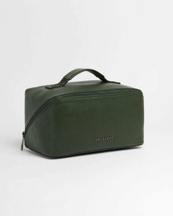 Coloured Leather Washbag Ted Baker