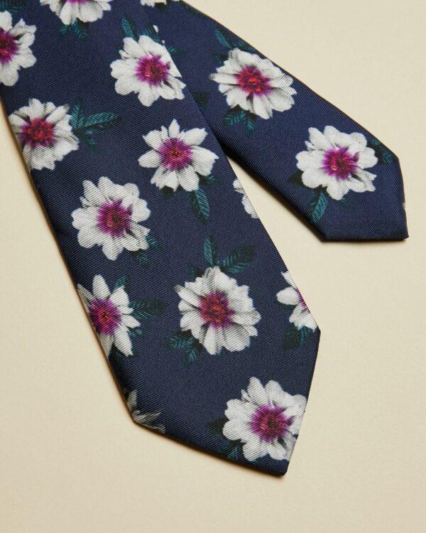 Cravate En Soie Imprimé Fleuri Ted Baker
