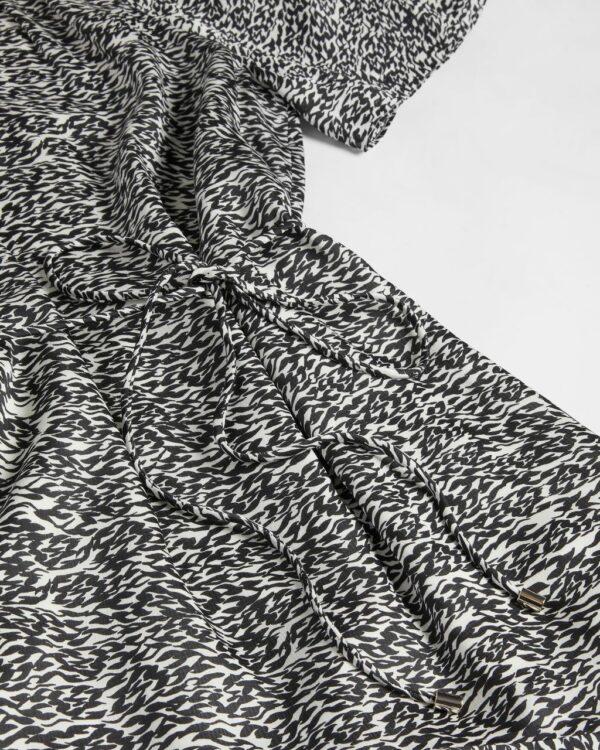 Printed Fluted Hem Mini Dress Ted Baker