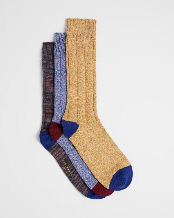 Three Pack Of Socks Ted Baker
