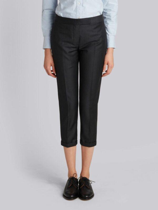 Thom Browne Lowrise Skinny Trouser In Super 130's Wool Twill