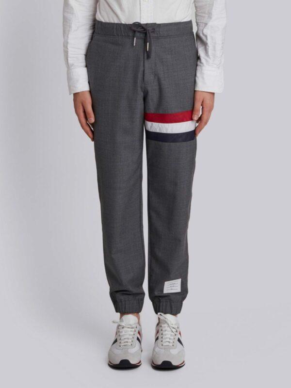Thom Browne pantalon de jogging à bande tricolore