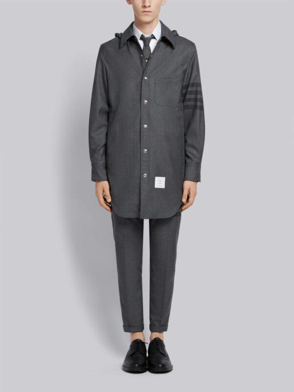 Thom Browne veste à capuche à détail 4 bandes signature
