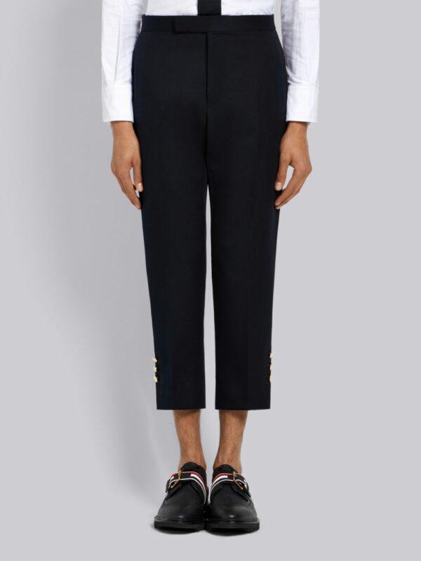 Thom Browne pantalon crop à détails rayés