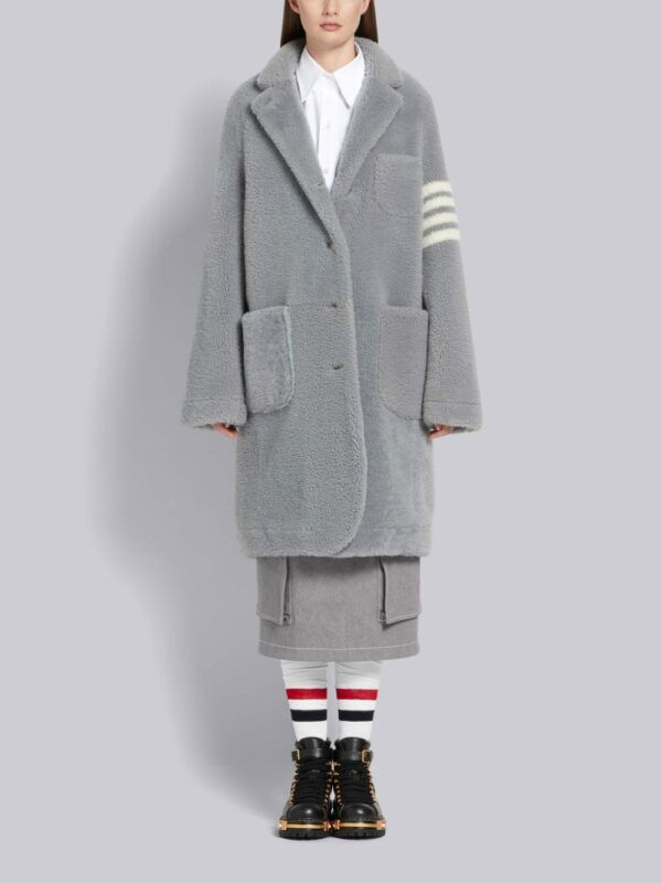 Thom Browne manteau à détails rayés