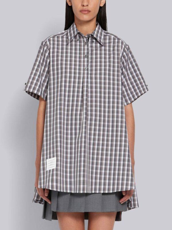 Thom Browne chemise à carreaux et manches courtes