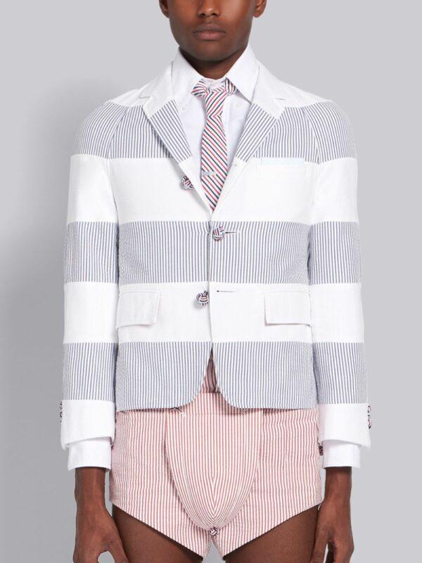 Thom Browne veste crop à rayures