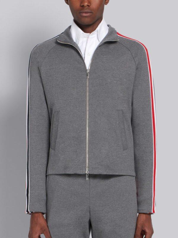 Thom Browne veste zippée à bande rayée