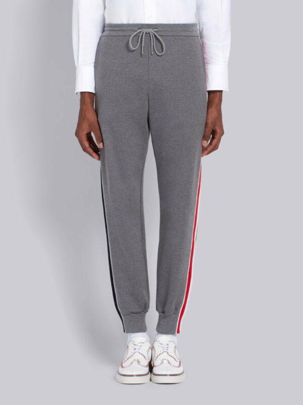 Thom Browne pantalon de jogging à bandes latérales contrastantes