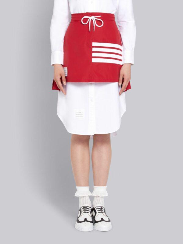 Thom Browne jupe plissée à lien de resserrage