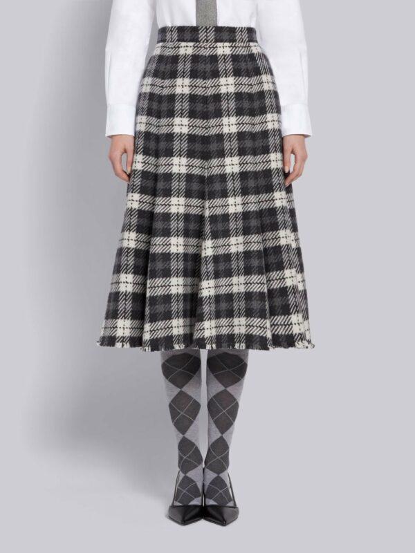 Thom Browne jupe à taille haute en tweed