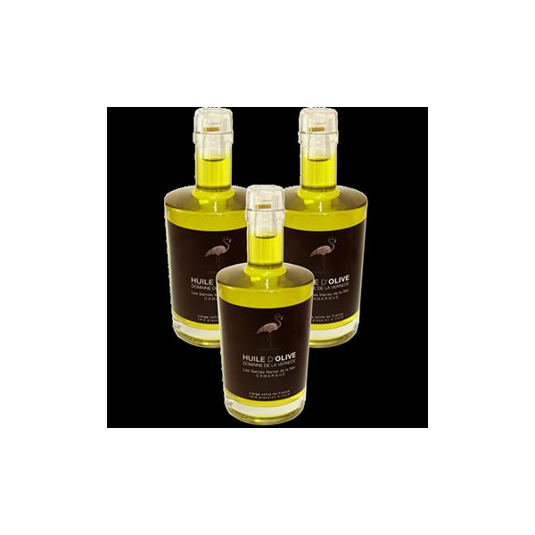Huile d'olives Pack 3 bouteilles 500ml Cuvée Extra Douce
