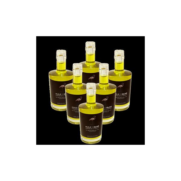 Huile d'olives Pack 6 bouteilles 500ml Cuvée Extra Douce