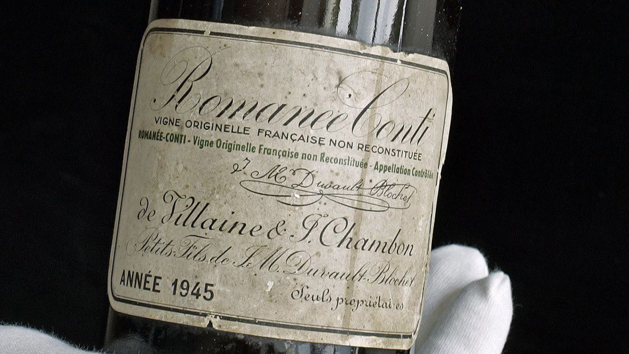 le vin le plus cher du monde romanee conti 1945